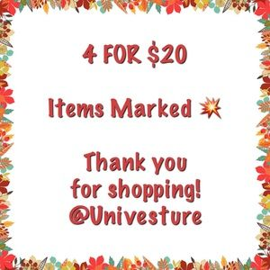 All Items Marked 💥 are 4 for $20!